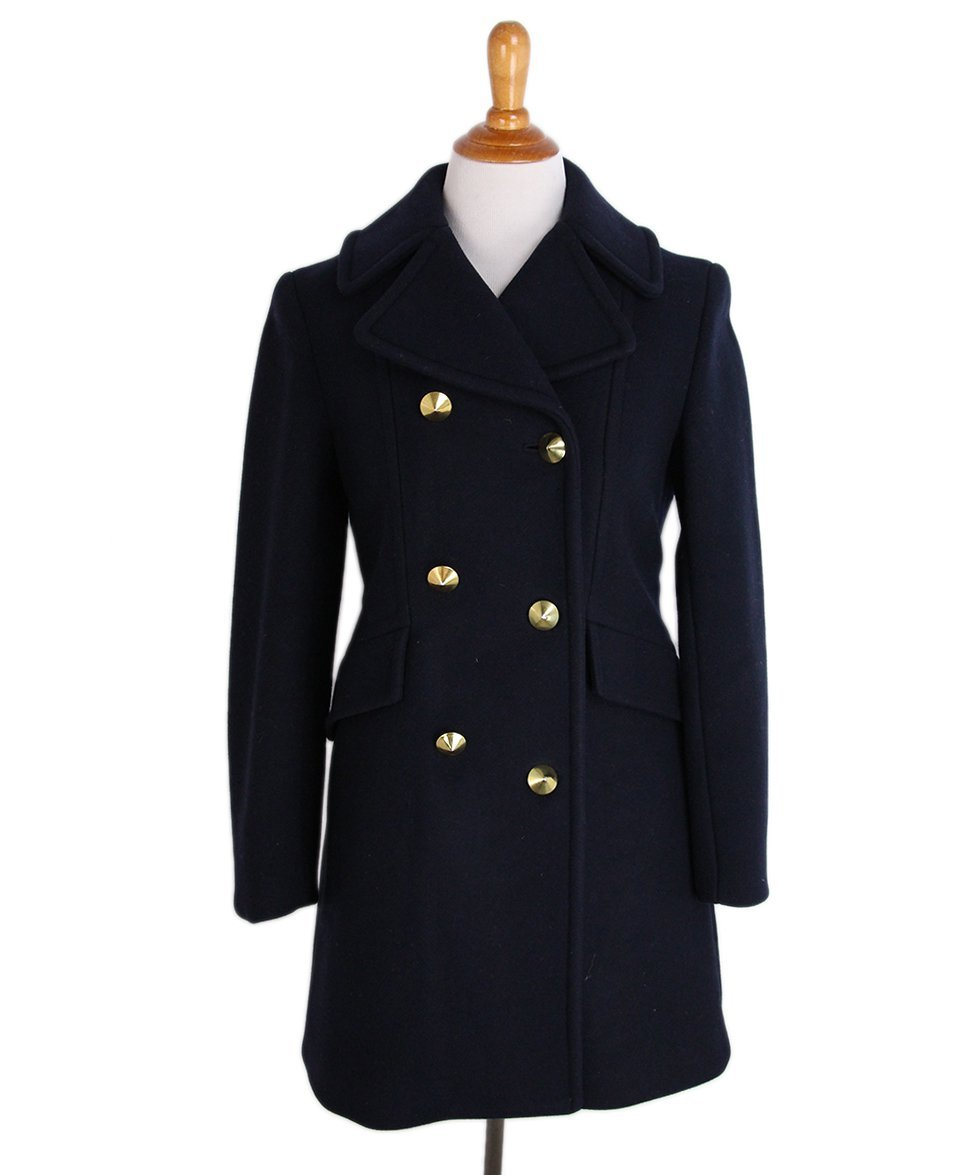 Philip Lim Navy Wool Gold Buttons Coat 1