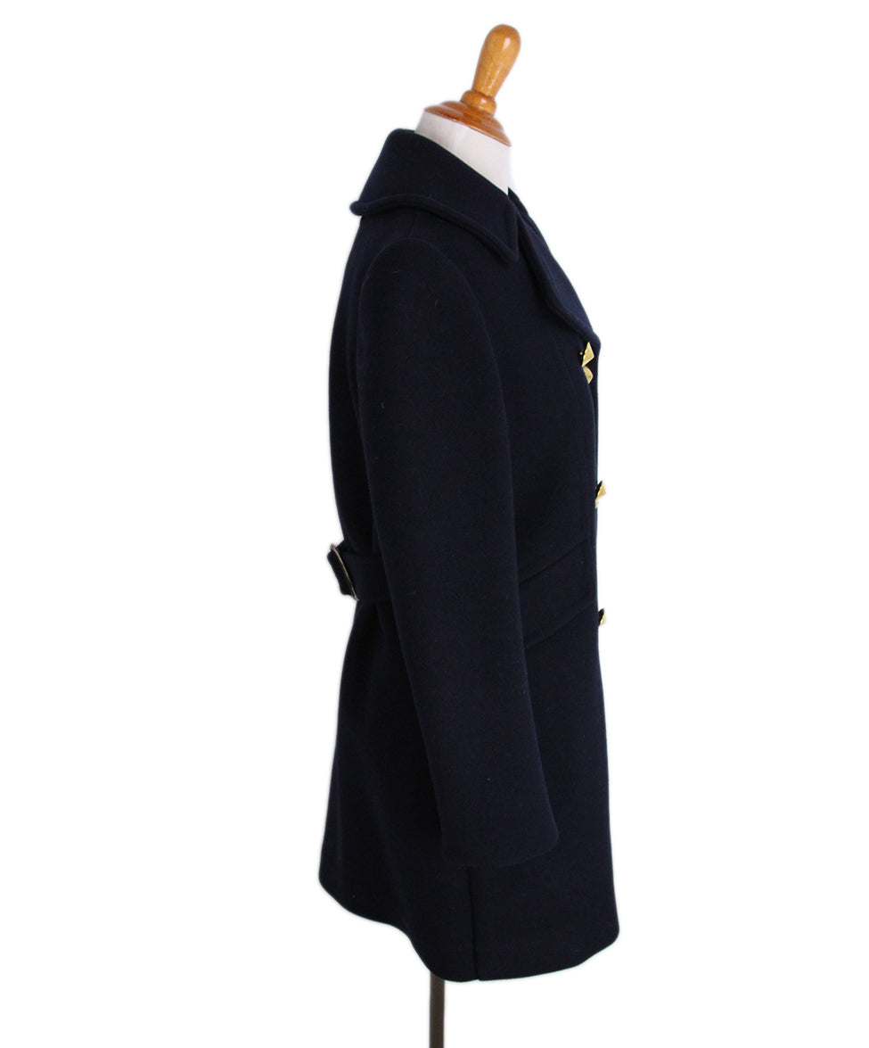 Philip Lim Navy Wool Gold Buttons Coat 2