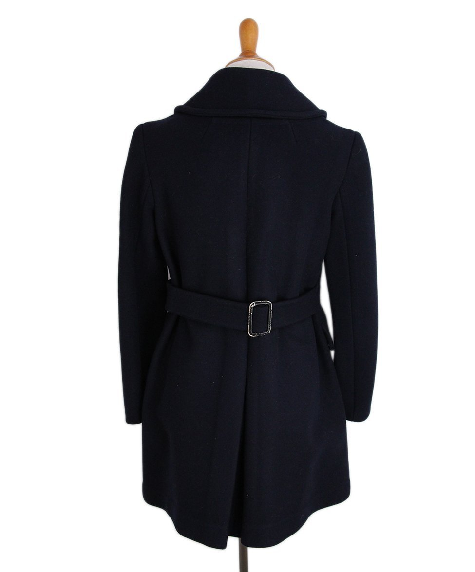 Philip Lim Navy Wool Gold Buttons Coat 3