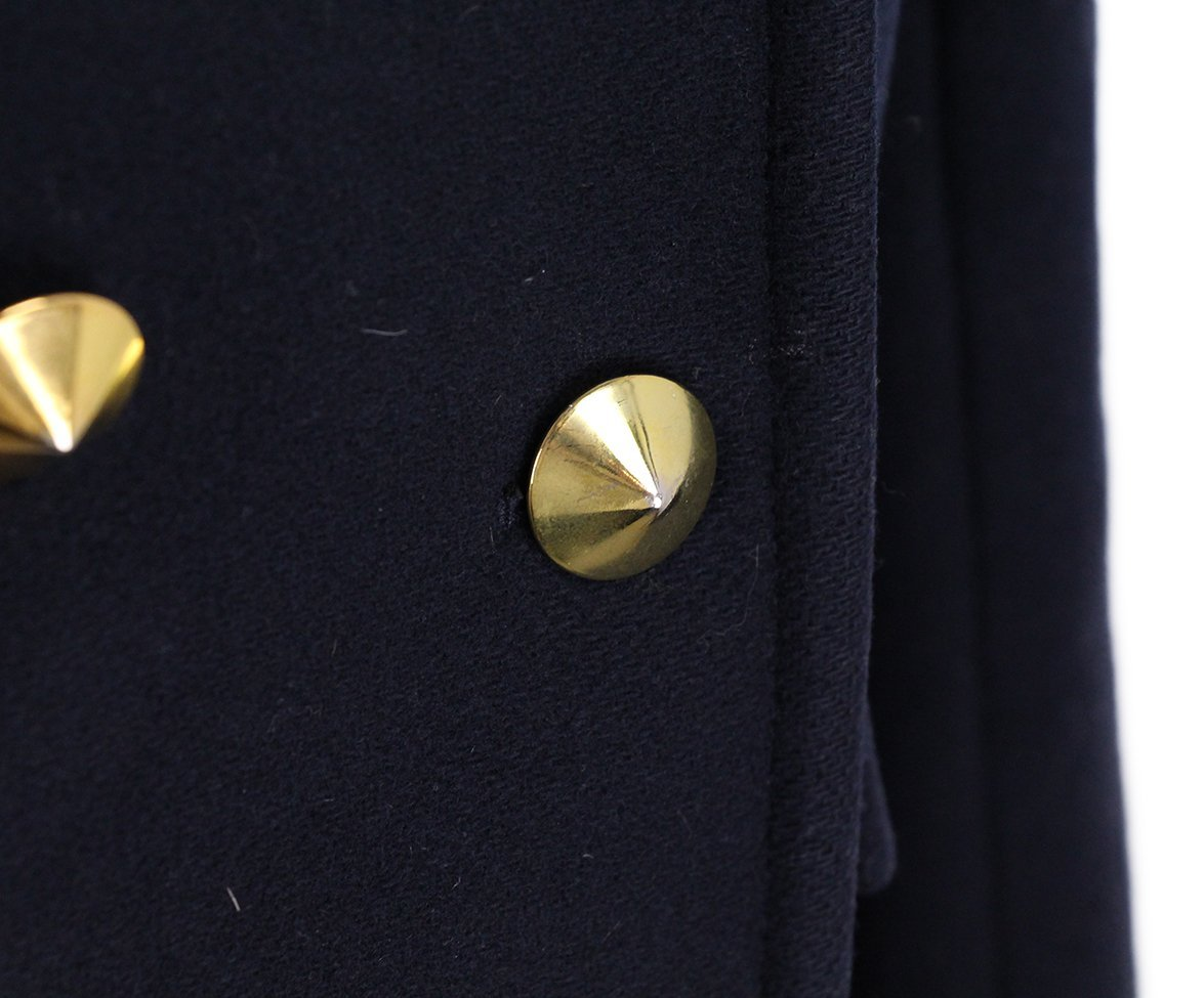 Philip Lim Navy Wool Gold Buttons Coat 6