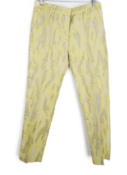 Phillip Lim Yellow White Polyester Cotton Pants 1