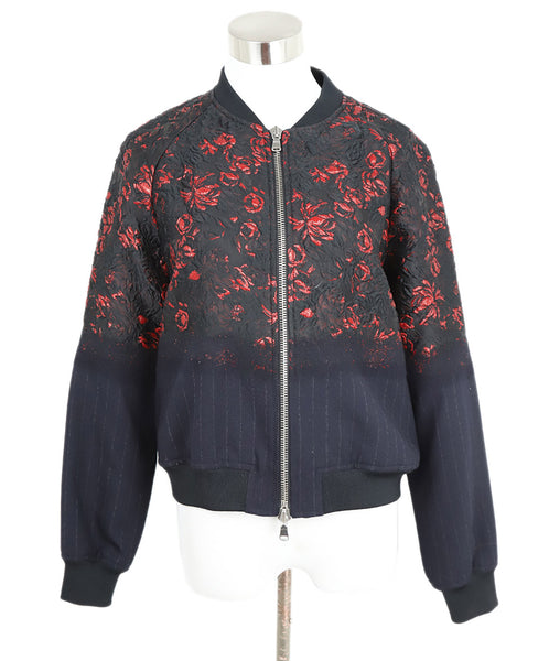 Phillip Lim Black and Red Floral Jacket 1