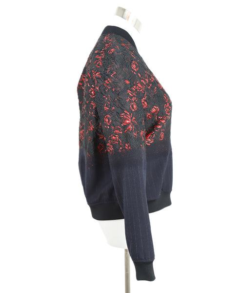 Phillip Lim Black and Red Floral Jacket 2