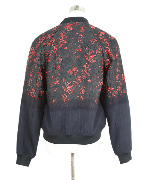 Phillip Lim Black and Red Floral Jacket 3