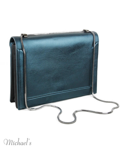 Phillip Lim Metallic Blue Handbag