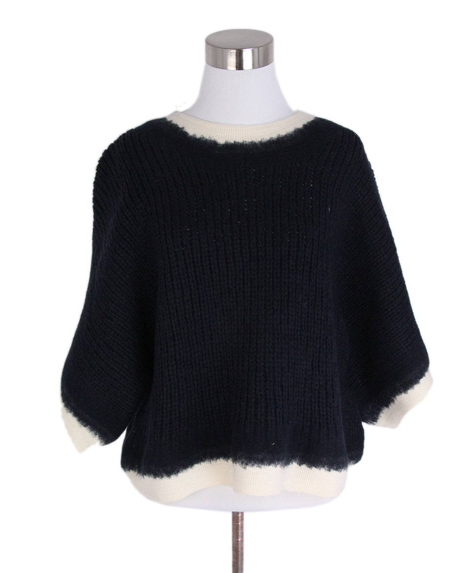 Phillip Lim Navy Wool Ivory Sweater 1