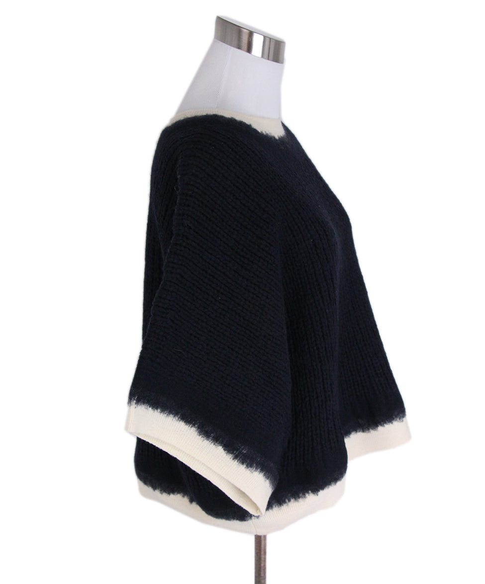 Phillip Lim Navy Wool Ivory Sweater 2