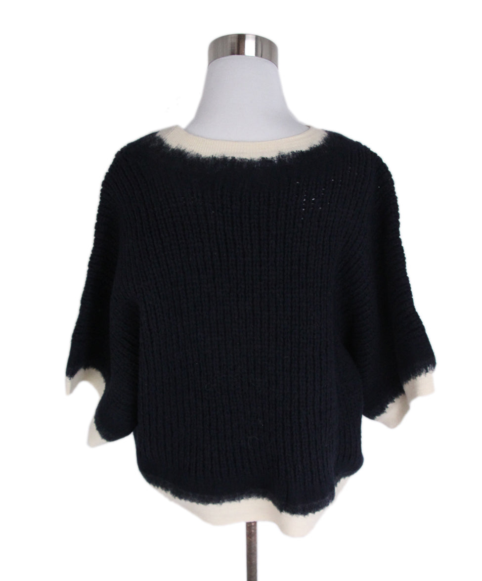Phillip Lim Navy Wool Ivory Sweater 3