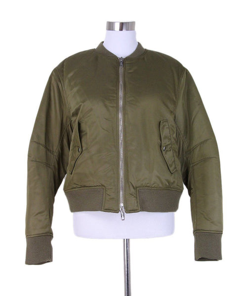 Phillip Lim Olive Nylon Lace up Jacket 1