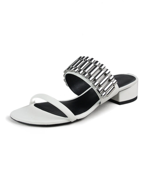 Phillip Lim White Leather Metallic Sandals 1