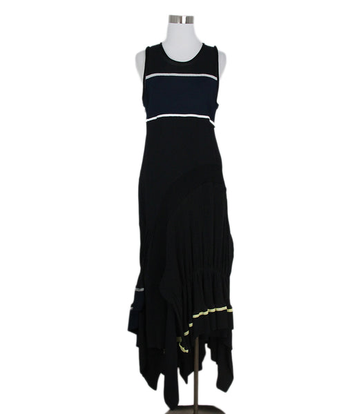 Phillip Lim black blue dress 1