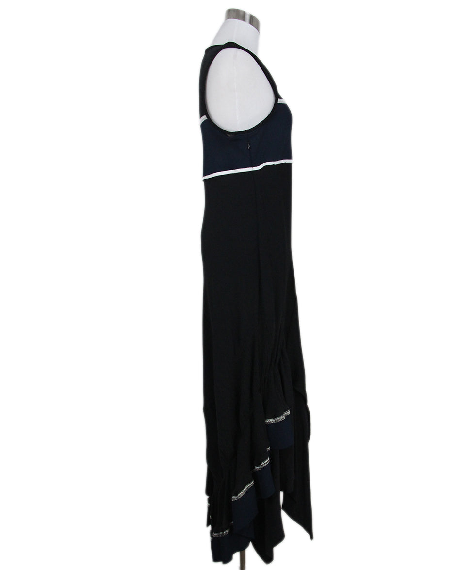 Phillip Lim black blue dress 2