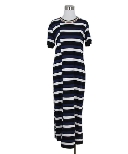 Phillip Lim black white navy stripe dress 1
