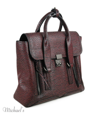 Phillip Lim Black Wine Leather Handbag