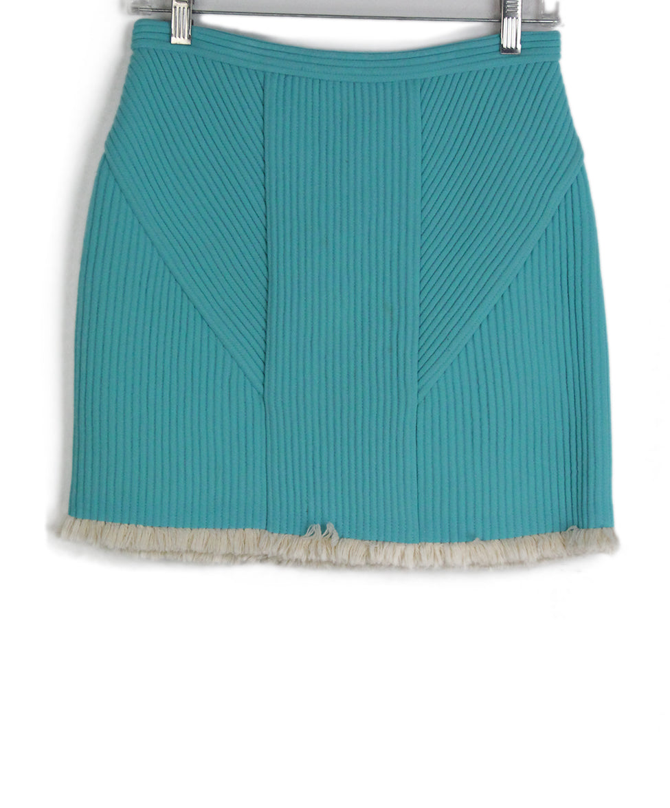 Phillip Lim blue aqua ivory trim skirt 1