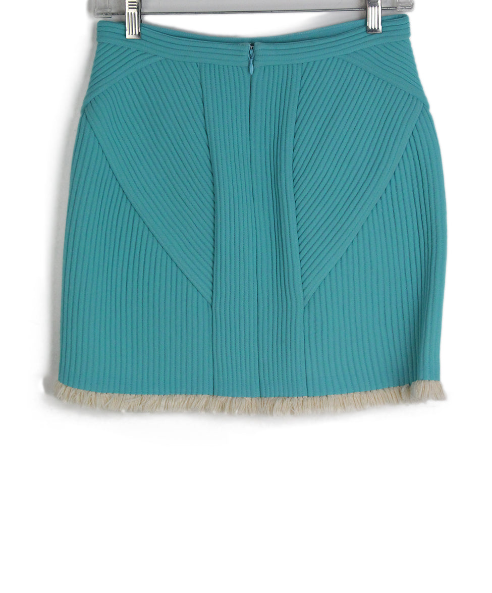 Phillip Lim blue aqua ivory trim skirt 2