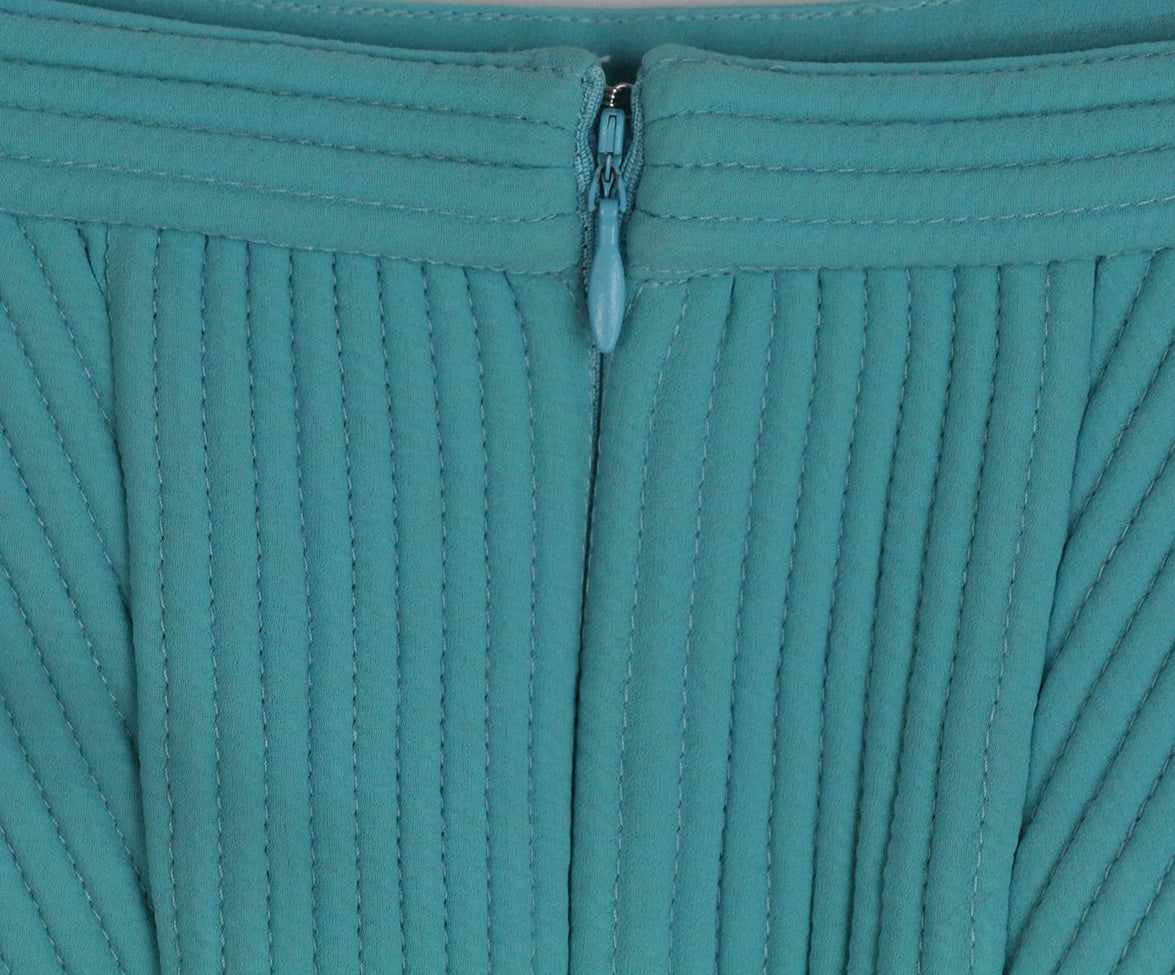 Phillip Lim blue aqua ivory trim skirt 4