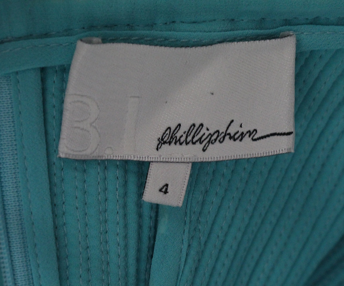 Phillip Lim blue aqua ivory trim skirt 3