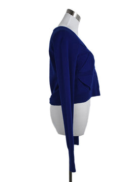 Phillip Lim Blue Wool Triangle Detail Sweater 2