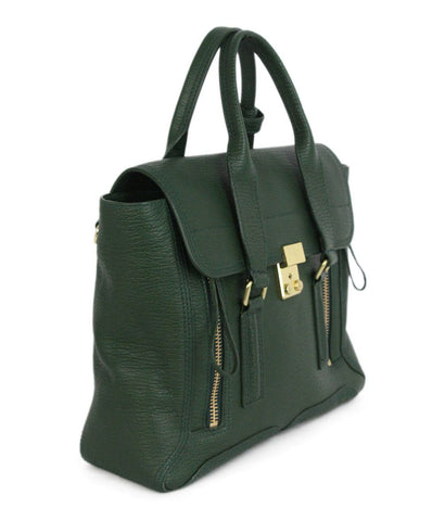 Phillip Lim green leather tote 1
