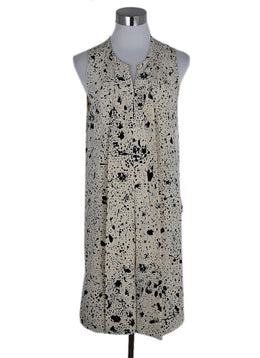 Phillip Lim Ivory Black Print Silk Dress 1