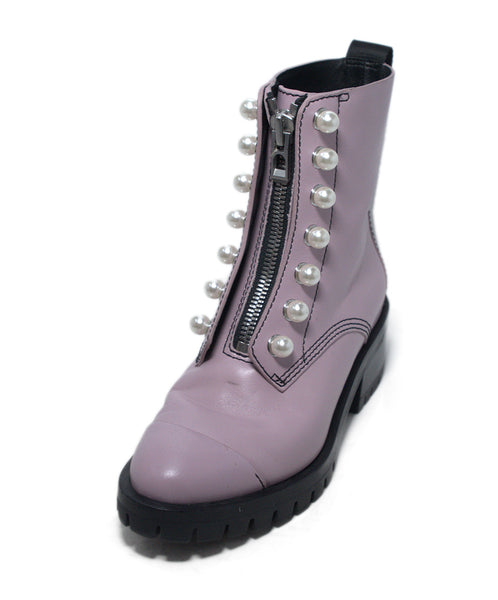 Phillip Lim Purple Lavender Leather Pearl Trim Boots 1