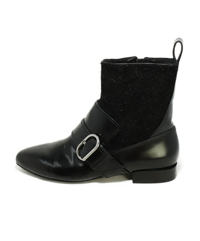 Phillip Lim Black Leather Suede Booties 1