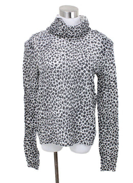 Philosophy Black White Wool Print Polyamide Sweater