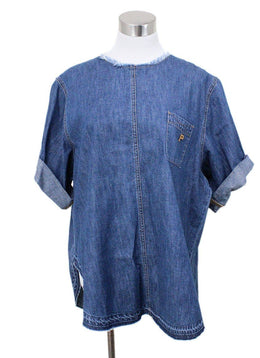 Philosophy Blue Denim Top Size 10