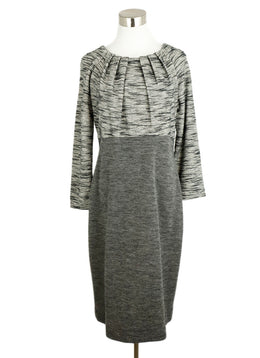 Piazza Sempione Grey Black Wool Dress 1