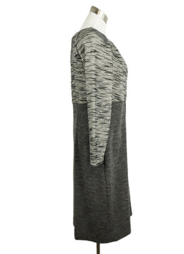 Piazza Sempione Grey Black Wool Dress 2
