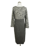 Piazza Sempione Grey Black Wool Dress 3