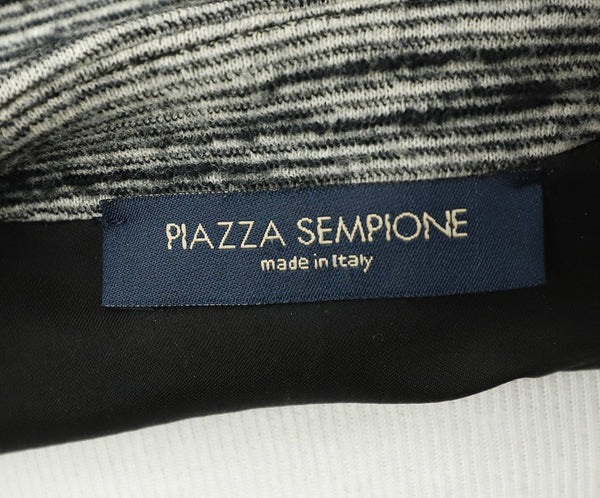 Piazza Sempione Grey Black Wool Dress 4