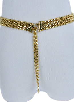 Picasso Metallic Gold Metal Belt 1