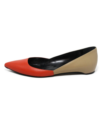 Pierre Hardy Orange Tan Leather Flats 1