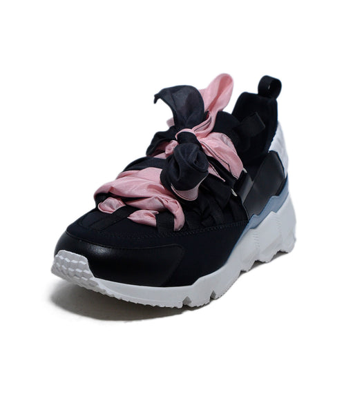 Pierre Hardy Black Nylon Pink Silk Sneakers 1