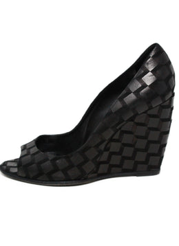 Pierre Hardy Black Suede Peep Toe Wedges 2