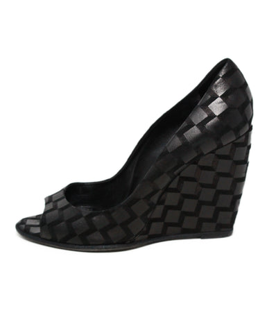 Pierre Hardy Black Suede Peep Toe Wedges 1