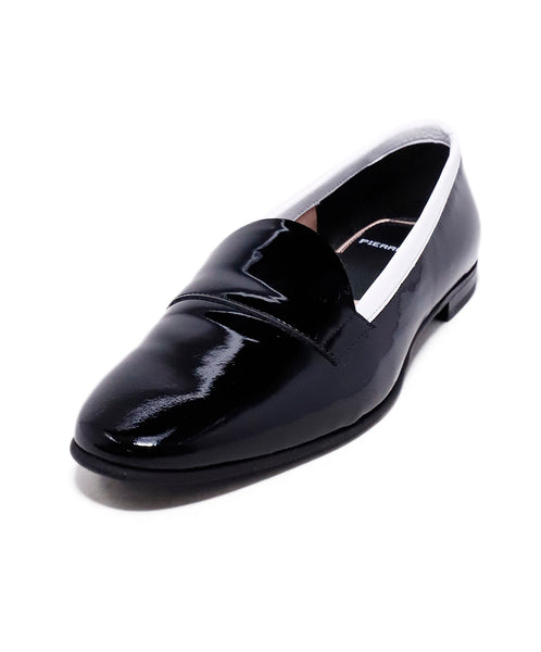 Pierre Hardy Black White Patent Leather Loafer Flats 1