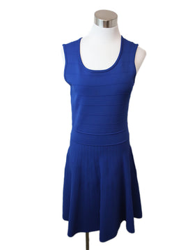 Pink Tartan Royal Blue Viscose Nylon Dress 1