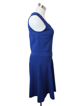 Pink Tartan Royal Blue Viscose Nylon Dress 2