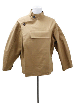 Plan C Neutral Camel Cotton Sp Outerwear
