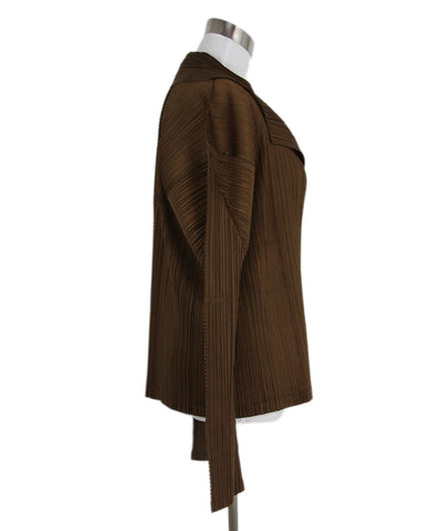 Pleats Please Brown Polyester Jacket 1