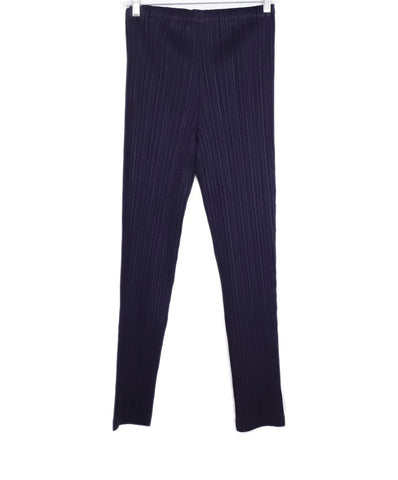 Pleats Please Purple Polyester Pleated Pants 1