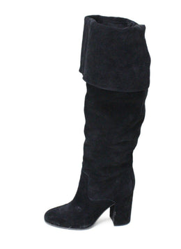 Polo Black Suede Thigh High Boots 1
