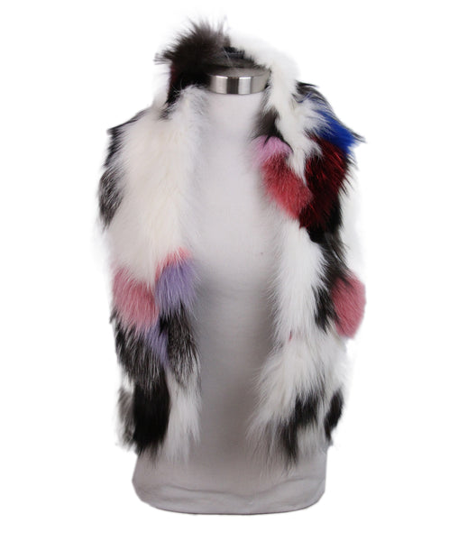 Pologeorgis White Brown Red Fox Scarf 1