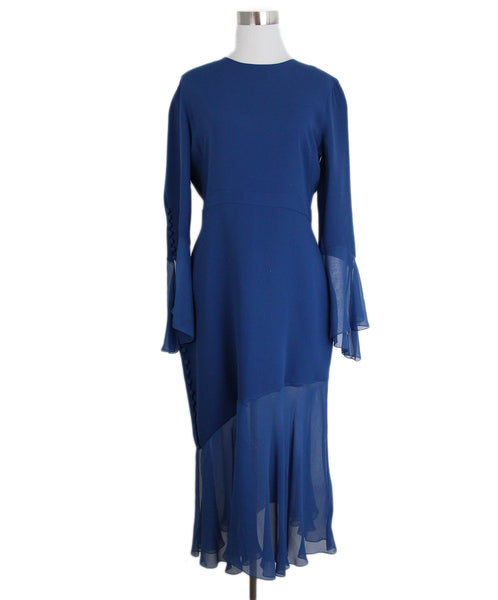 Prabal Gurung Blue Silk Dress 1
