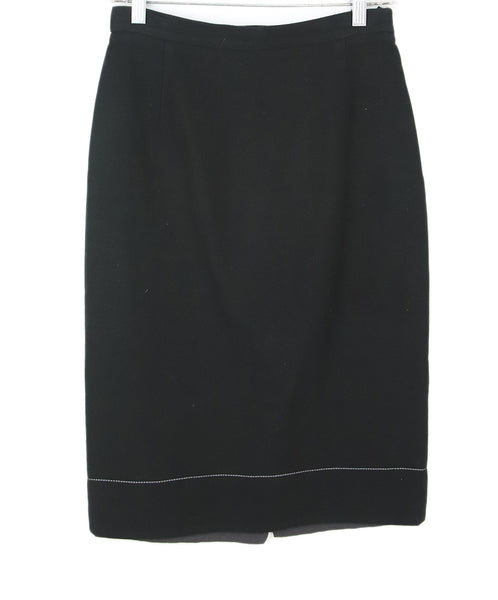 Prada Black Cotton Skirt 1