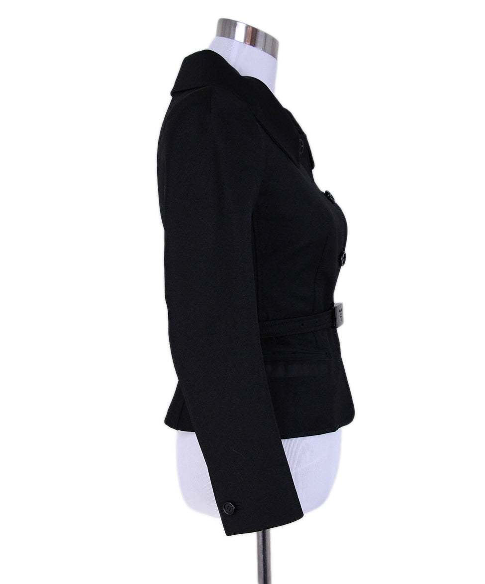 Prada Black Jacket with Belt 2