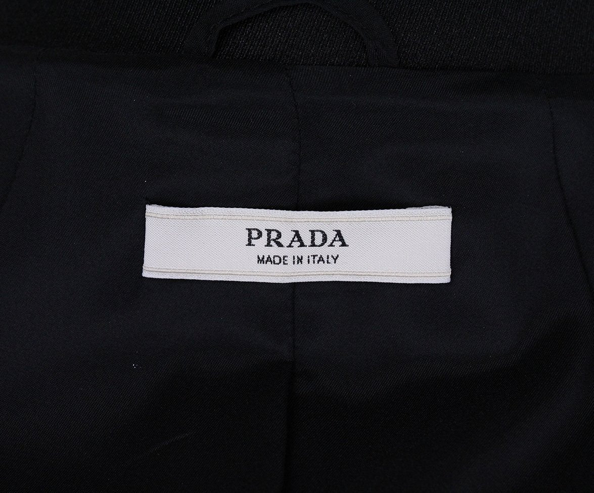 Prada Black Jacket with Belt 4